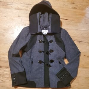 Guess peacoat with hood